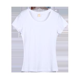 超火cec短袖女2020新款純棉白色t恤女修身顯瘦夏裝百搭半袖上衣潮
