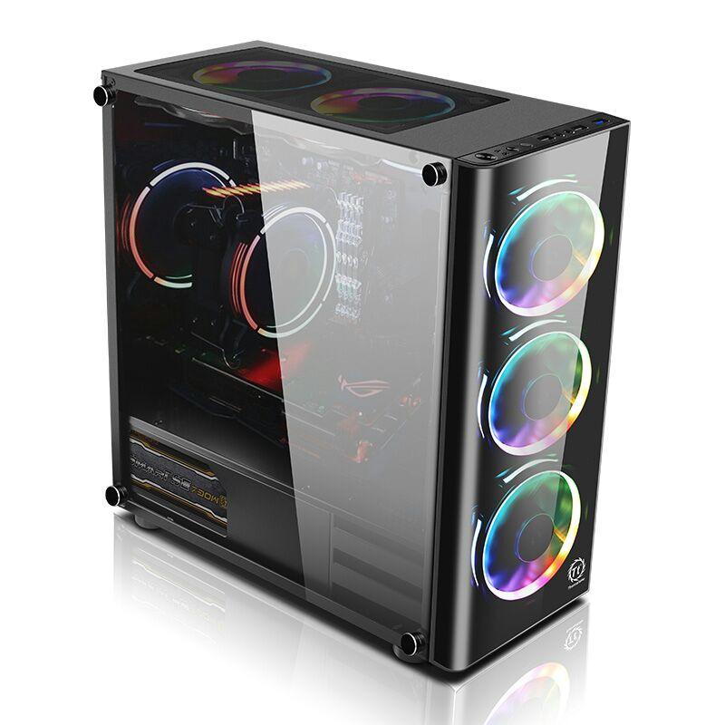 Tt机箱启航者V3 F1 V1迷你机箱台式电脑游戏水冷机箱 ATX玻璃机箱