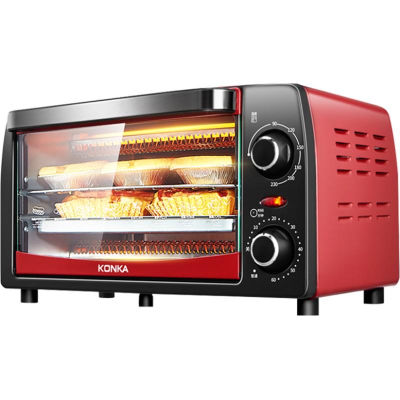 康佳小烤箱迷小型家用12升L电烤箱蛋糕烘焙多功能家庭迷你全自动