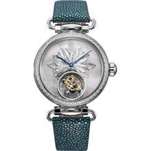 seagull银花丝皮带魔鬼鱼皮手表,送女友老婆高端礼物