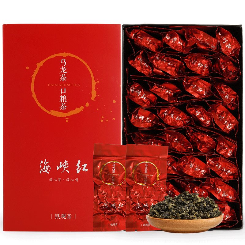 海峡红秋茶正味铁观音茶叶正炒清香型新茶兰花香乌龙茶礼盒装250g
