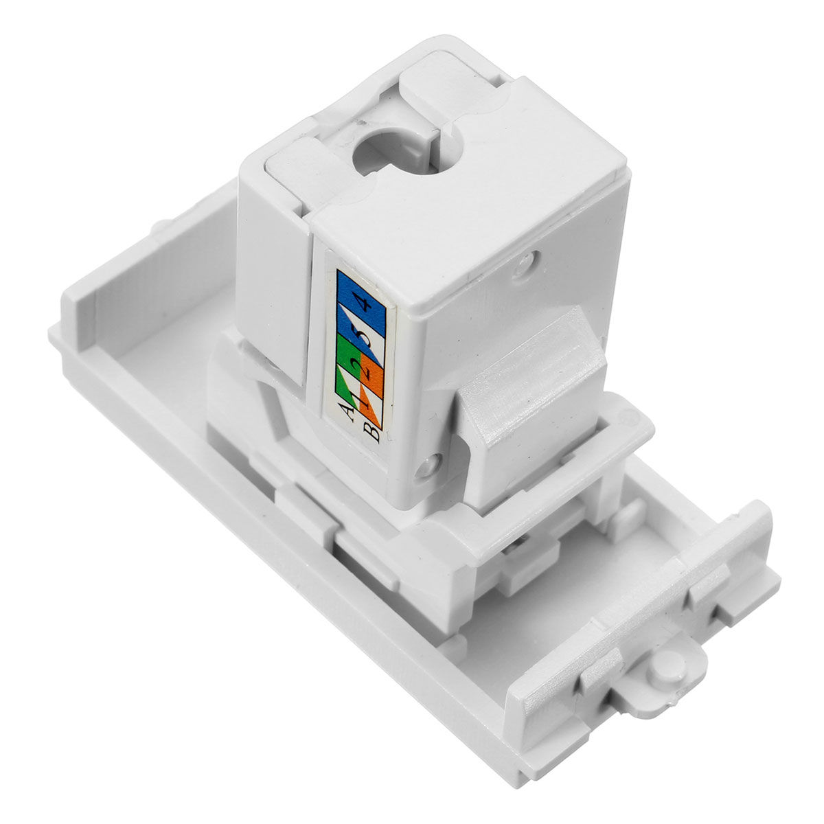 wholesale rj45 network module panel shuttered wall plate rj4
