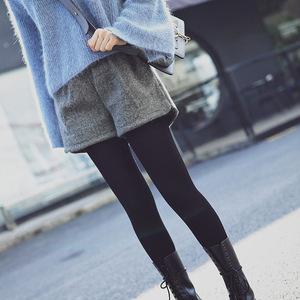高腰短裤女秋季新款韩版学生显瘦a字阔腿宽松休闲外穿靴裤冬