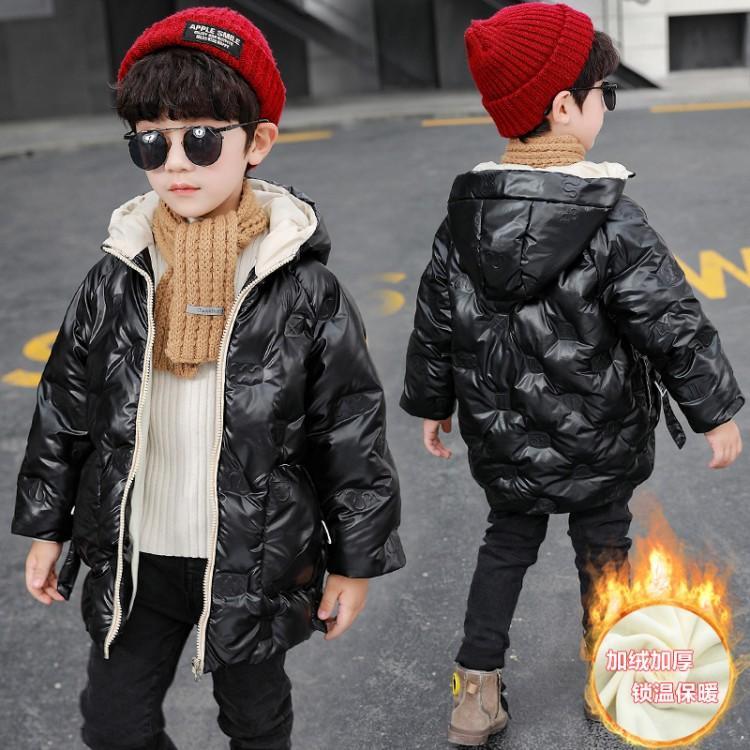 2020秋冬新款兒童棉衣棉服韓版中小童加絨加厚連帽男女童外套