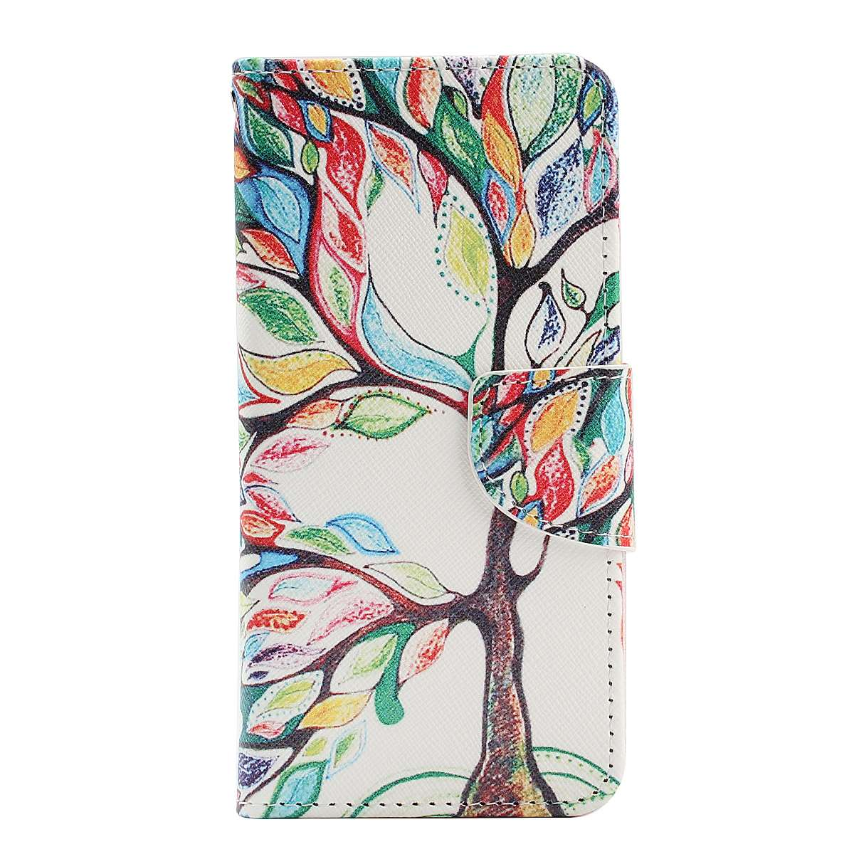 slim patterned flip pu leather wallet card cover case stand