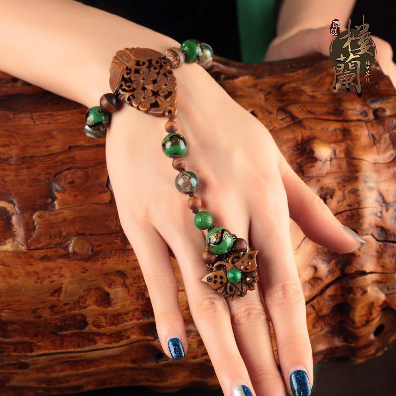 Оригинальный античный национальный браслет с бриллиантами из одной цепи винтаж С аксессуарами