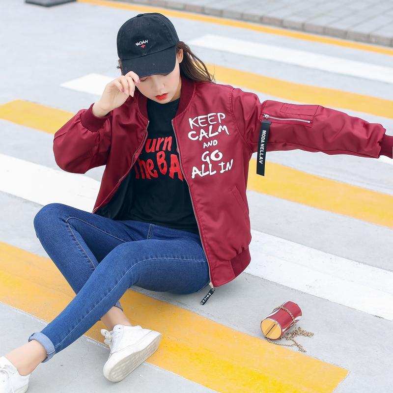 现货实拍2018春秋新款港风棒球服女宽松夹克韩版情侣款学生上衣