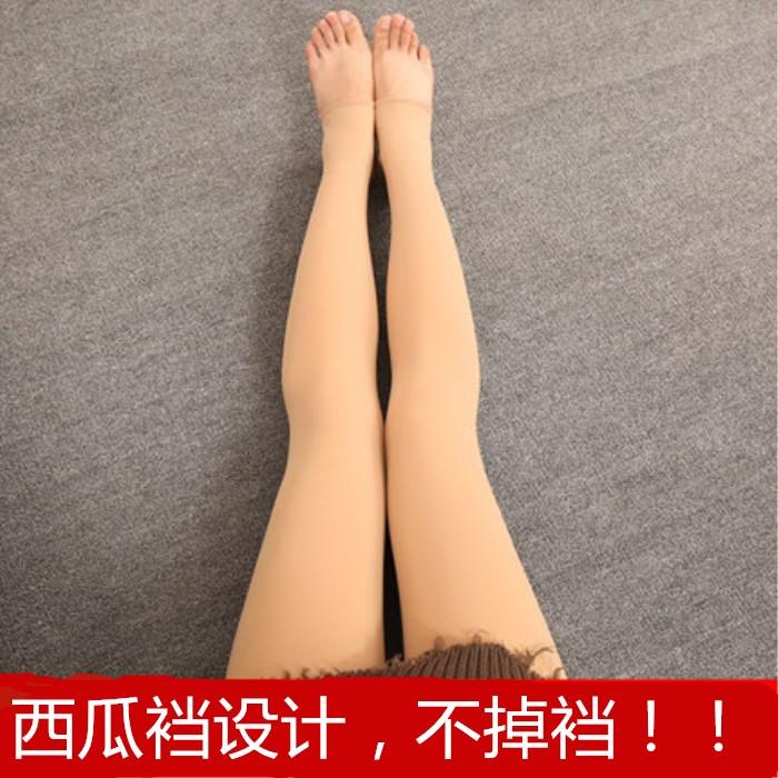 8852#新款連踩腳防勾絲防脫腳底襪西瓜襠踩腳打底褲美腿加厚加絨