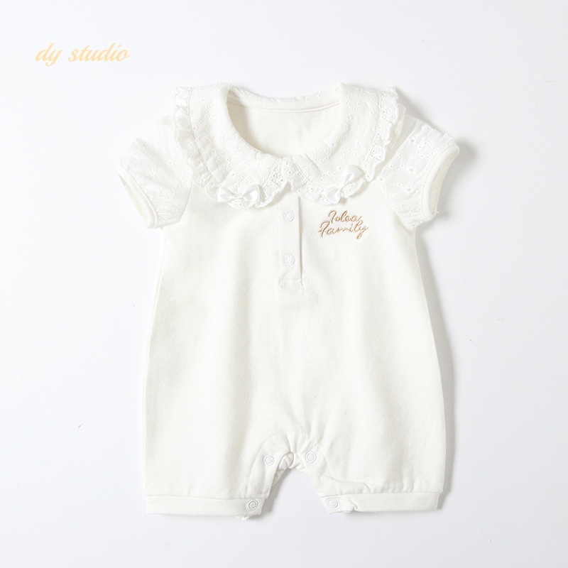 2021 new childrens clothes new baby embroidered Khaki clothes baby climbing clothes one-piece clothes