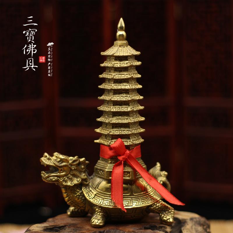 Бесплатная доставка по китаю Буддийские фэн-шуй продукты медь 9-этажный дракон дракона Wenchang башня украшение удачливый таунхаус стипендия бизнес