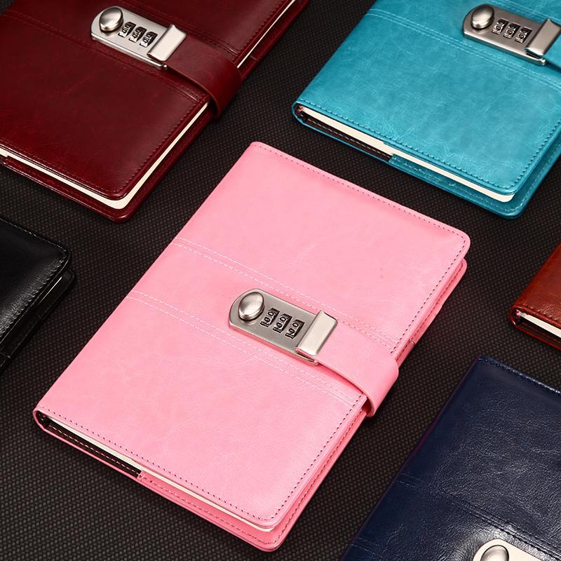 夏季密码本包邮欧式复古盒装本密码日记本带锁密码笔记本子精装本