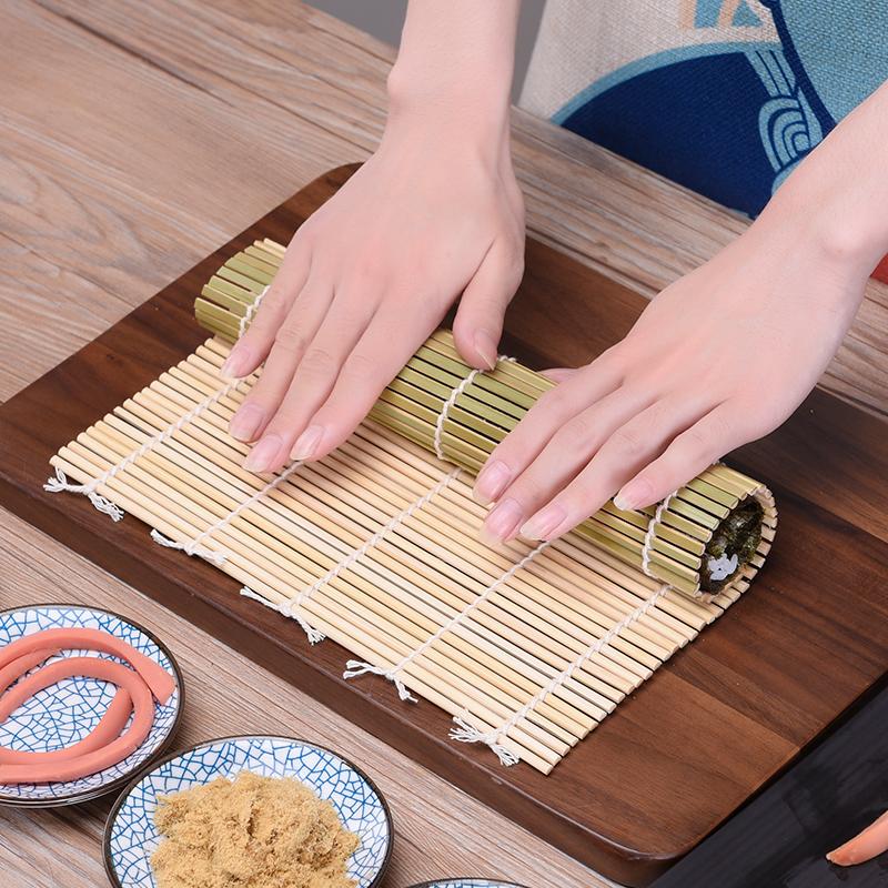 日本家用不粘寿司帘子做寿司的工具竹帘卷席紫菜包饭竹子卷帘模具
