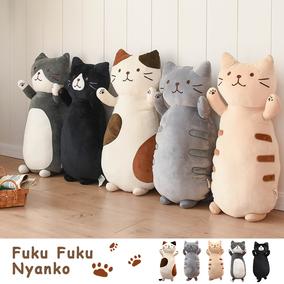 日本猫咪柔软日式卡通毛绒卧室抱枕
