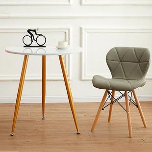 北欧仿大理石纹面茶几家用客厅小圆桌创意金色铁艺卧室小户型茶几