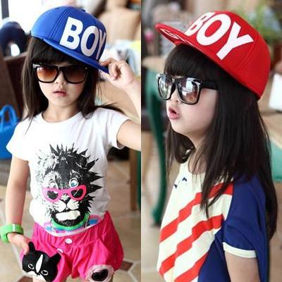 Email корейских детей летом ребенка бейсбольная кепка шляпа шляпа солнца козырек крышка мальчики девочки Beanie