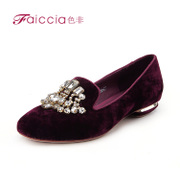 Non-2013 new counters authentic vintage square rhinestone flat shoes WGAN30201C
