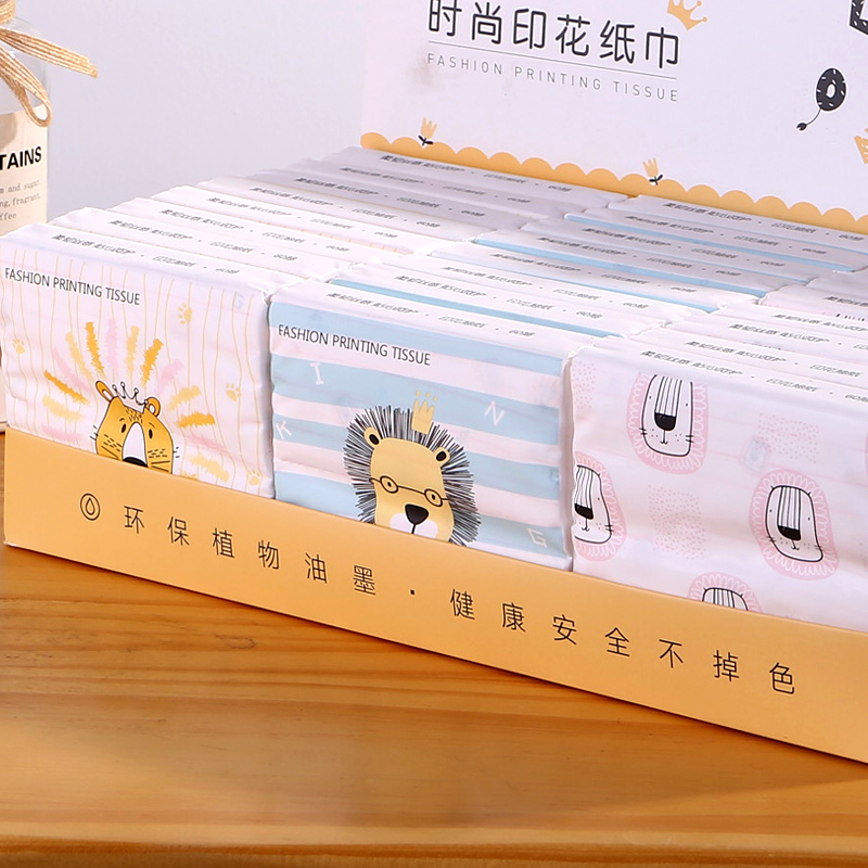 Patterned restaurant hand clap paper towel small bag style food printing paper drawing hand afraid of hand drawing the whole box cute affordable