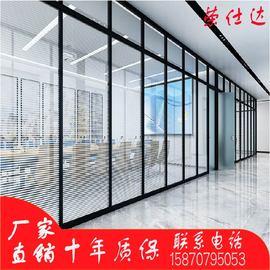 广州深圳办公室玻璃隔断墙定制双玻中空百叶铝合金钢化隔音高隔断