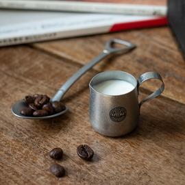 日本进口AOYOSHI青芳复古迷你小奶杯奶壶不锈钢咖啡拉花杯304奶缸图片