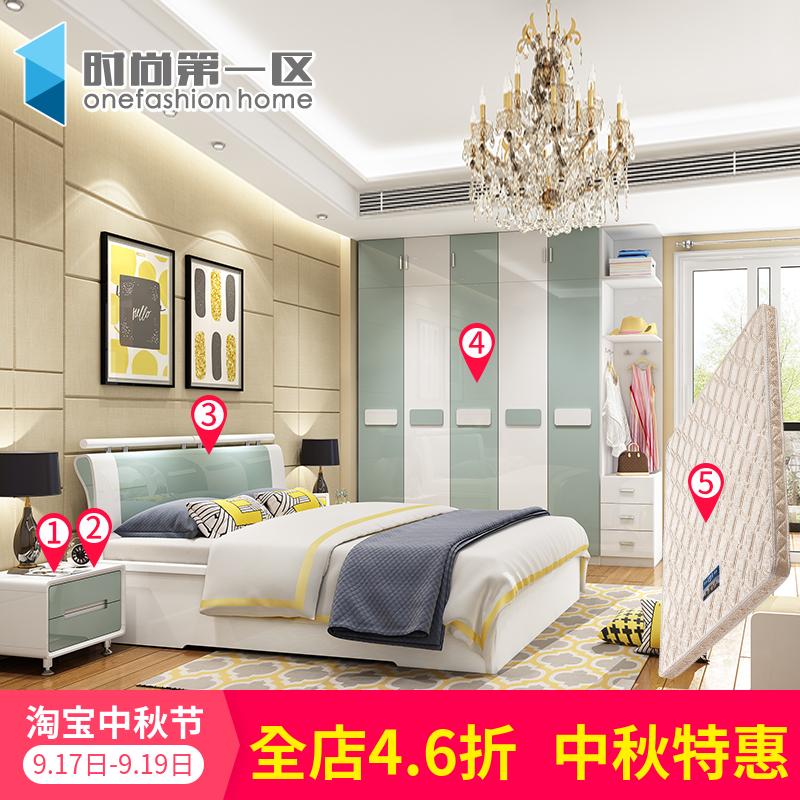 Спальня мебель набор комбинации простой для взрослых набор современный пластина спальня полный мебель костюм пять наборы