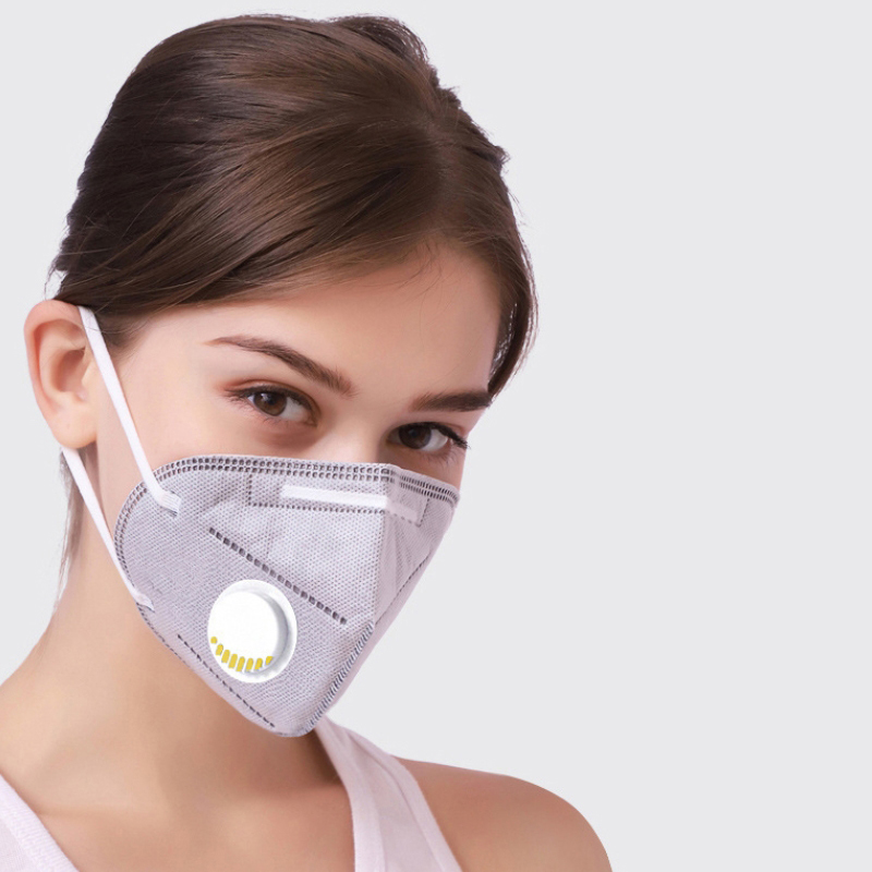 Kn95 respirator with breathing valve breathable male and female disposable student protective nose mask thin summer package