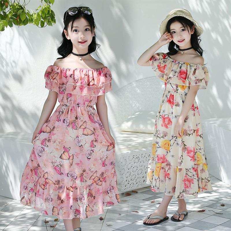 长款连衣裙夏7儿童粉色8 10沙滩裙