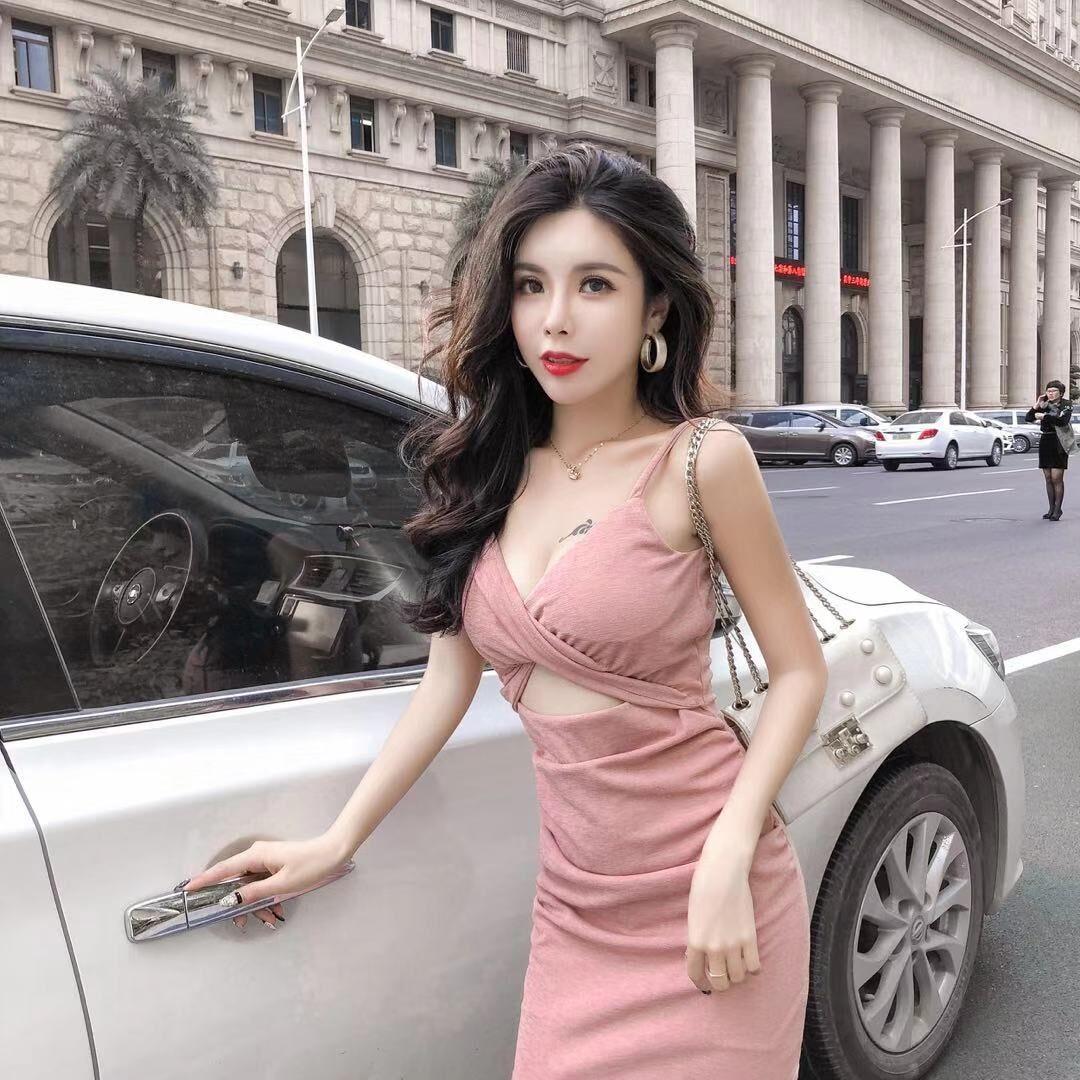 夏季新款超仙性感吊带连衣裙潮短裙(非品牌)