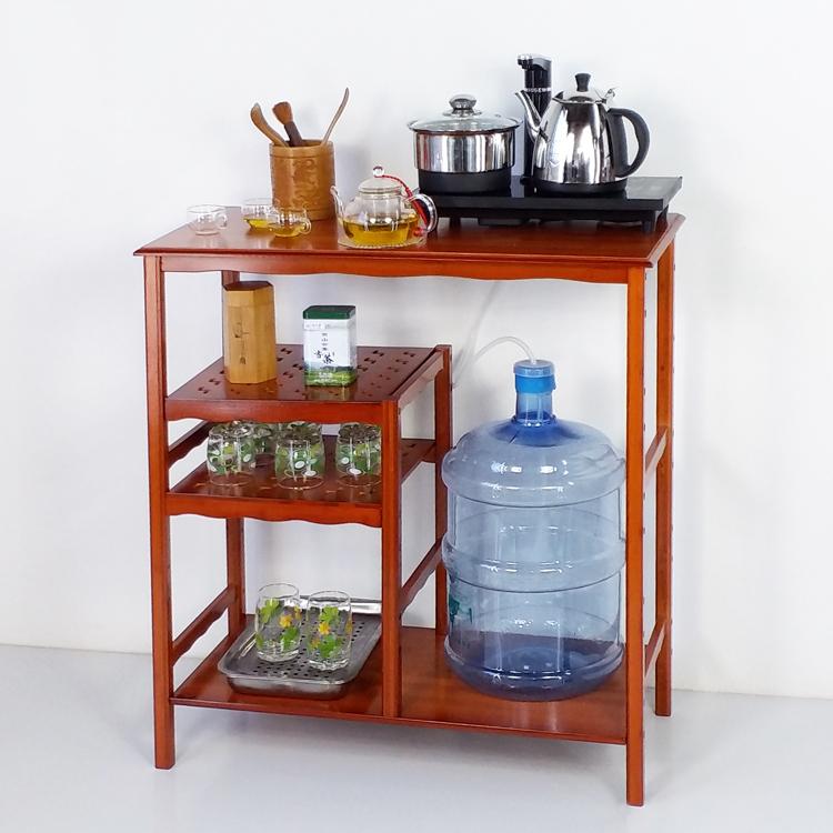 楠竹子茶具架饮水机架热水瓶壶电磁炉大水桶烧水电饭煲饭锅置物架