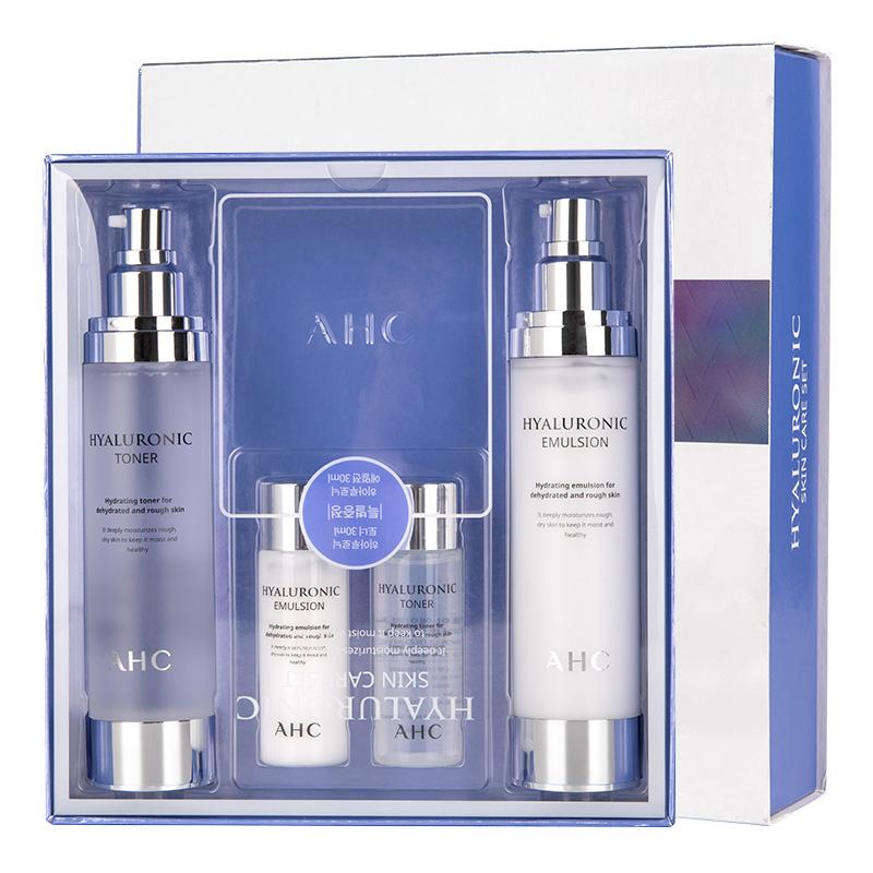 韩国正品ahc神仙水水乳套装护肤品套盒 玻尿酸清爽保湿补送小样