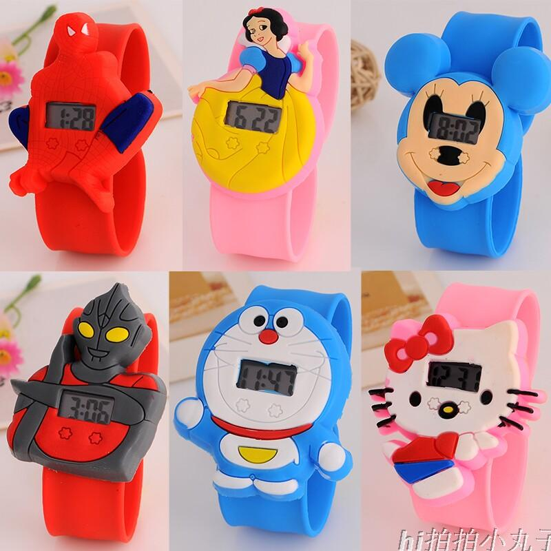 Children silicone pat ring gift watch waterproof electronic watch pat boy and girl child loves