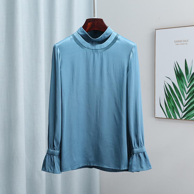 【蘅】13 4269 优雅气质衬衫拼接半高领上衣精选品质女装