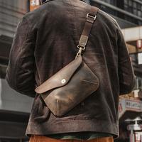 查看日式手作包 男女情侣休闲随身小包真皮简约出街单肩斜挎包手拿包价格