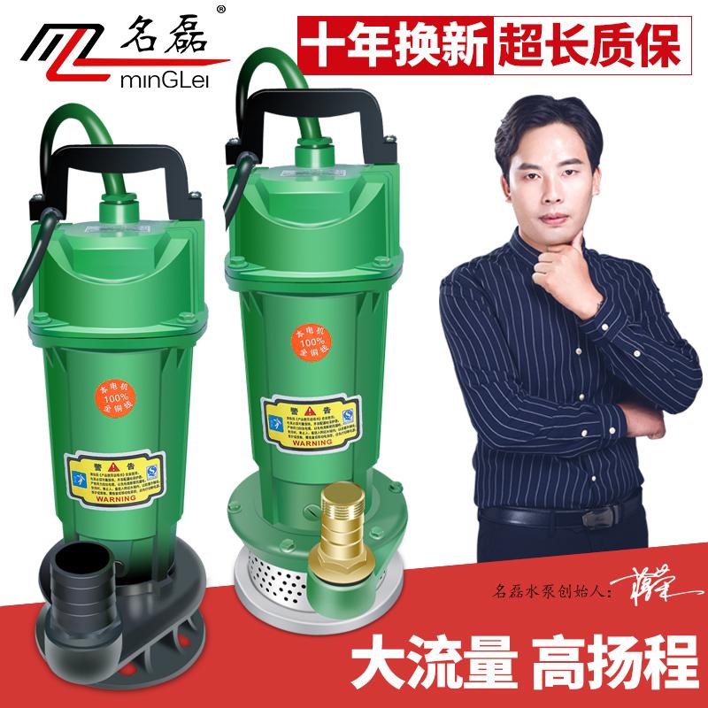 370W750W单相家用电潜水泵1寸220V抽水机井用农用 户外浇灌抽水泵