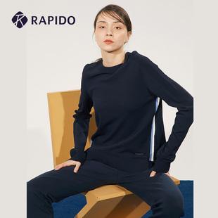 RAPIDO 雳霹道 春秋季女士时尚简约彩条设计毛衣套装运动上衣