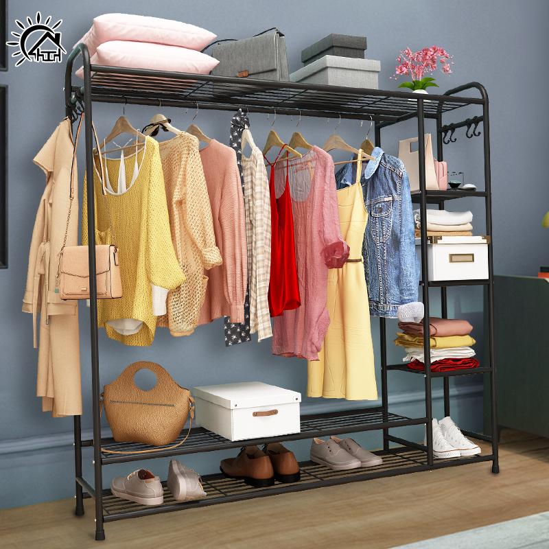 衣帽架落地卧室省空间置物架房间创意挂衣架家用简约放衣服的架子热销119件限时2件3折