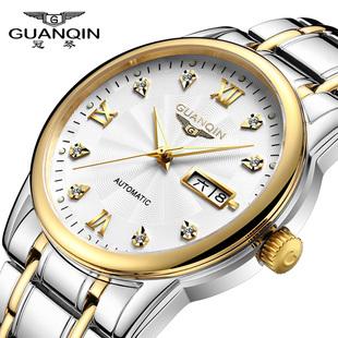正品瑞士十大品牌冠琴名手表男士商务全自动机械表夜光防水腕表图片