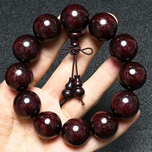 赞比亚血檀精品20泥料顺纹金星高油密媲美小叶紫檀男女情侣手链