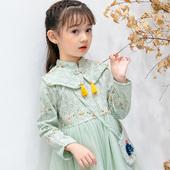洋气中国风公主裙2019新 女童连衣裙儿童裙子小女孩长袖 旗袍裙秋装