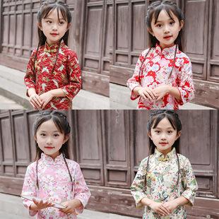 女童旗袍儿童旗袍春秋小女孩旗袍裙中国风连衣裙改良女宝宝祺袍裙