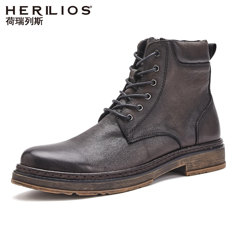 Holerith Martin boots men's leather shoes high top leather boots British style work clothes boots all kinds of short boots fashion boots man