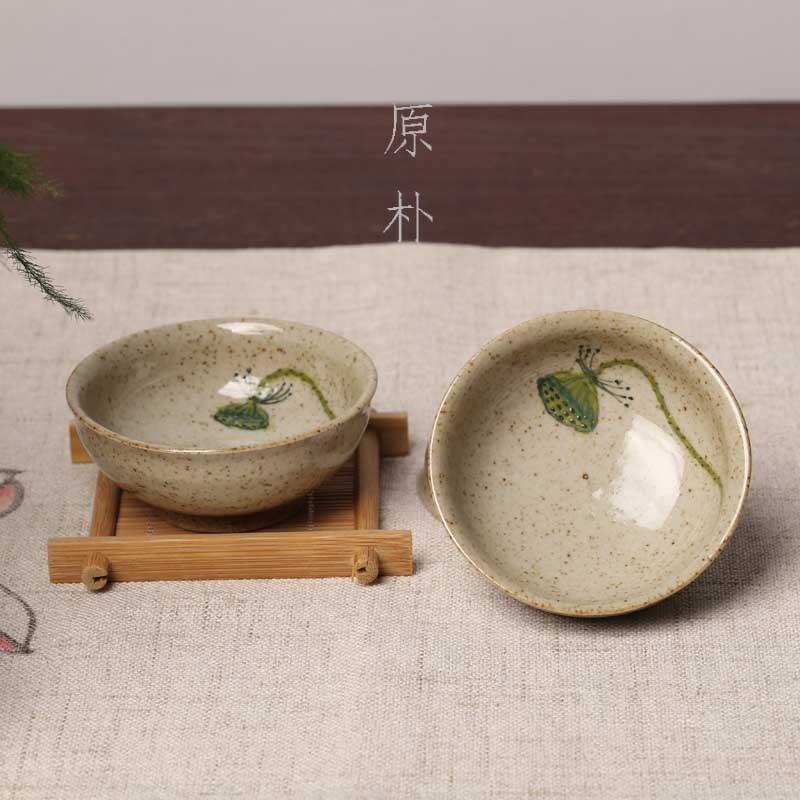 Бесплатная доставка японский ретро усилие чашка инструмент личный статья чайный куст чашка господь одинокие люди чашка чашка ручная роспись алтарь фиксированный душ малый кубок