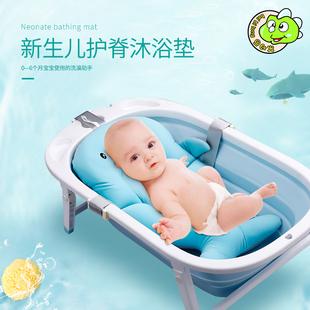 新品鲸鱼浴垫宝宝支架防滑洗澡浴盆