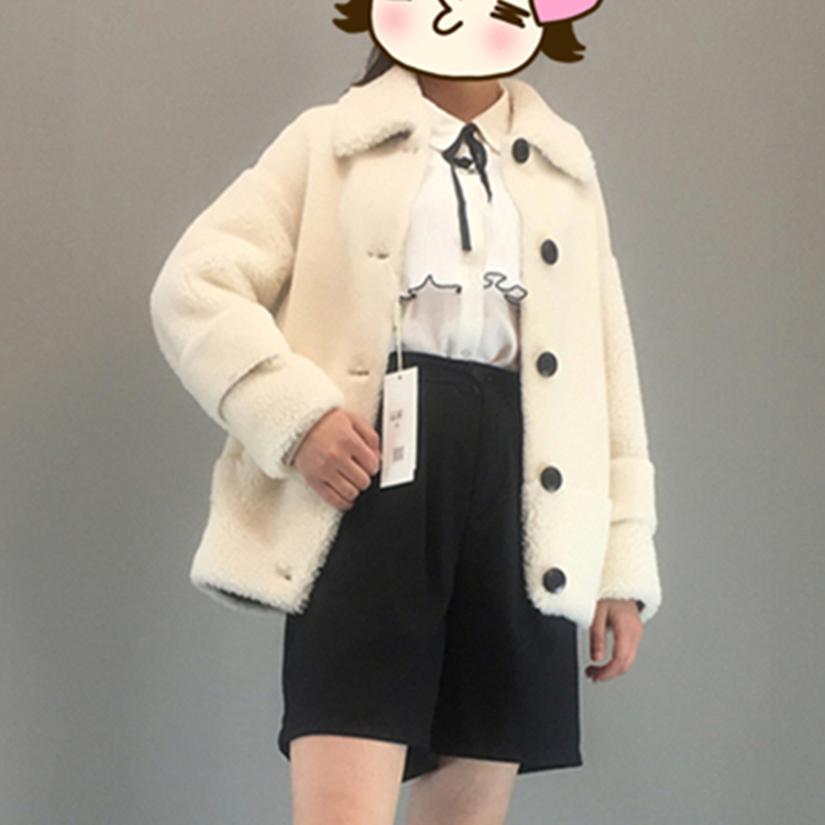 [exclusive live broadcast and leakage] lovely granular wool coat Korean Short woolen coat factory direct sales