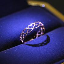 金玫瑰金手链手饰女18k红倒影潮宏基珠宝