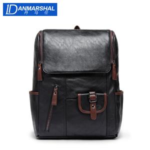 丹马仕男士背包欧美休闲双肩包时尚潮流学生书包旅行男包电脑皮包
