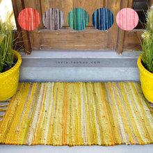 民族地毯黄色元 素门口垫子地垫吸水卫生间床边家用门垫进门浴室垫