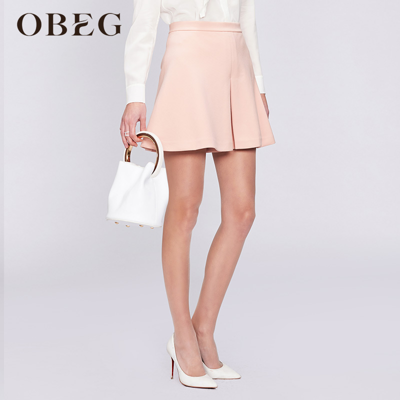 Obeg / obiqian skirt type three-point shorts fashion elegant lady crisp shorts 2019 spring 1073093