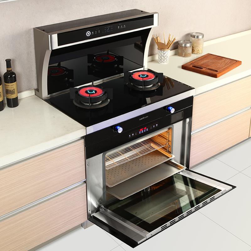 红外线 聚能集成灶 蒸烤一体蒸烤箱自动清洗智能体感环保灶威士伯
