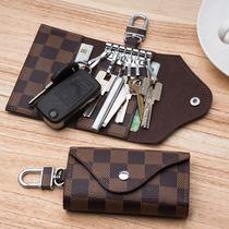 牛皮多功能腰挂锁匙包女大容量真皮钥匙包男拉链男士汽车钥匙包