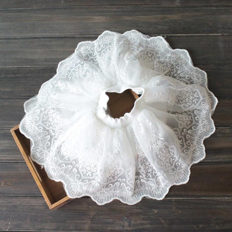 Девочки юбка юбки ребенок белый вуаль ребятишки юбка сын платье принцессы лето в больших детей кружева юбка